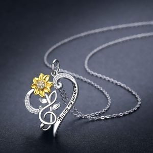 """You Are My Sunshine"" Heart Necklace"
